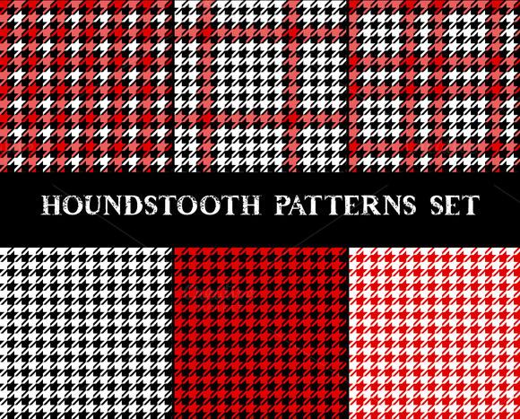 Houndstooth Pattern Set