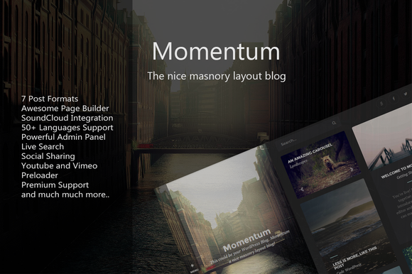 Momentum WordPress Blog Theme
