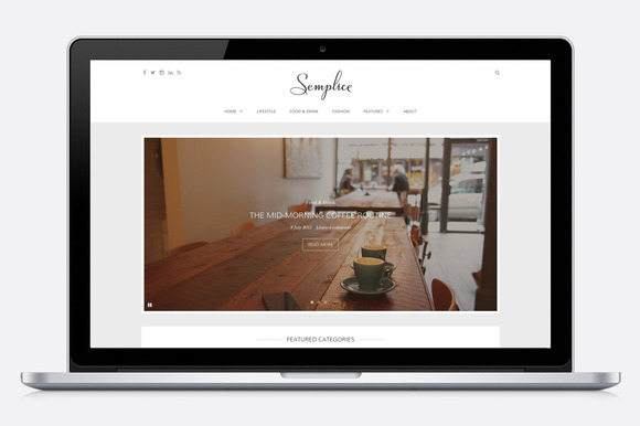 Semplice Elegant WordPress Blog