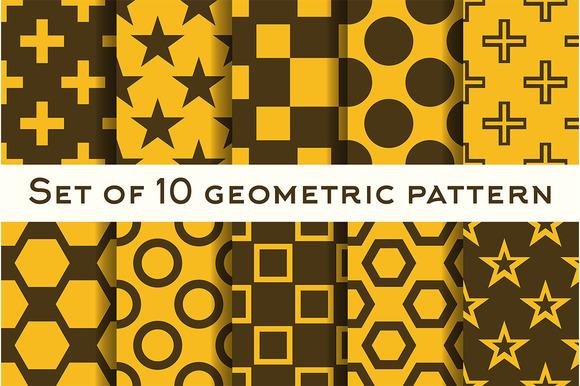 Set Of 10 Geometric Patterns