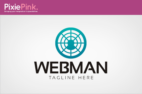 Web Man Logo Template