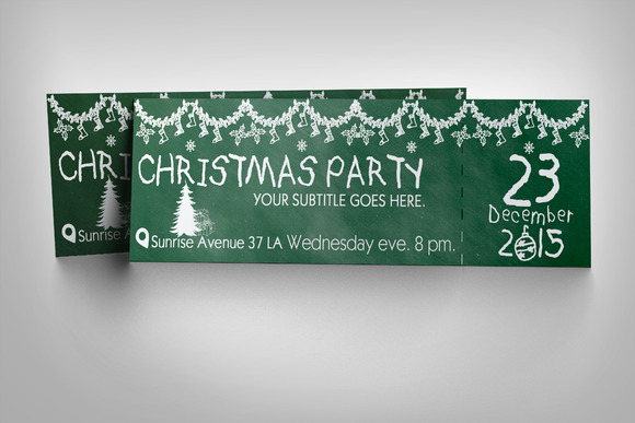Free Christmas Party Ticket Template Designtube Creative – Christmas Party Tickets Templates