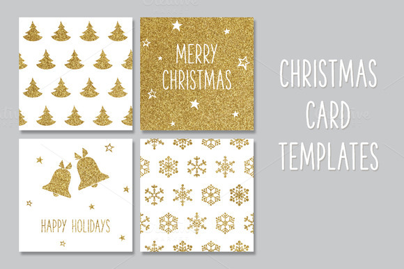 Christmas Gold Greeting Cards