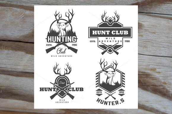 Set Of Vintage Hunting