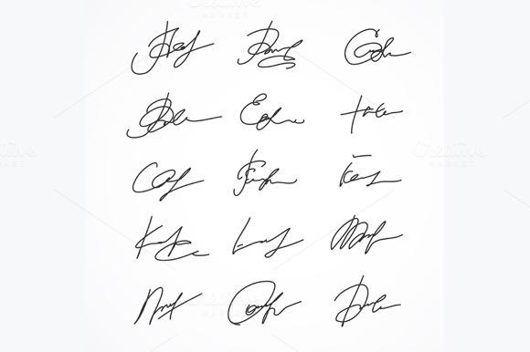 Signature Fictitious Autograph