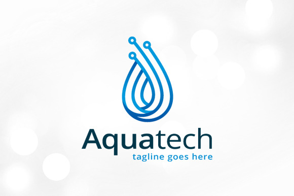 Aqua Technology Logo Template