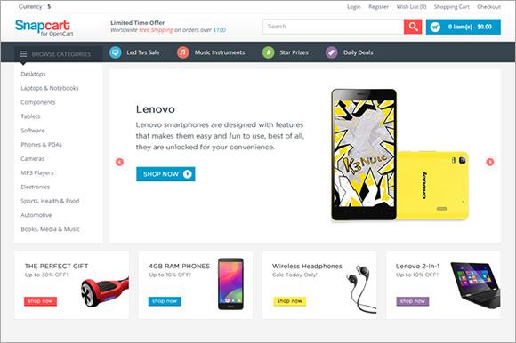 SnapCart Responsive OpenCart Theme