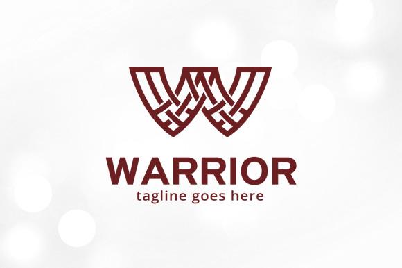 Warrior Letter W Logo Template