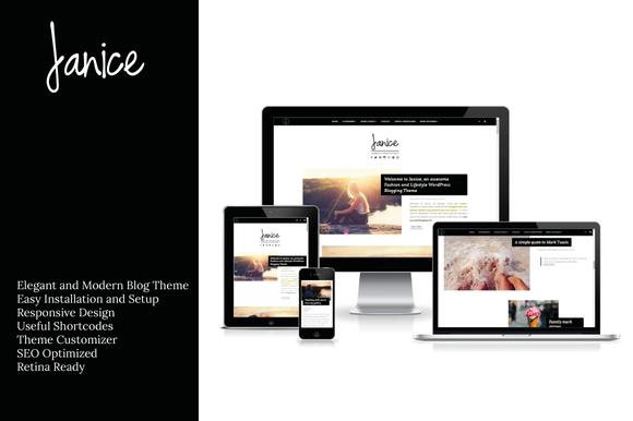 Janice- Fashion WordPress Theme
