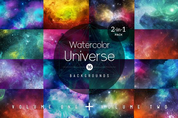 2 In 1 Watercolor Universe
