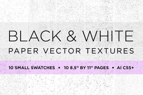 20 Black White Paper Vector Textures