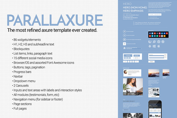 Parallaxure Axure Template Library
