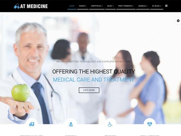 AT Medicine Joomla Template