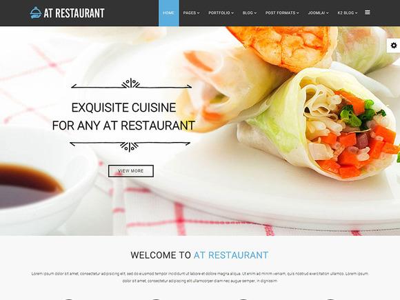 AT Restaurant Joomla Template