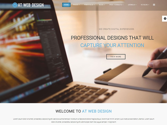 AT Web Design Joomla Template