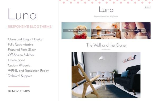 Luna WordPress Blog Theme