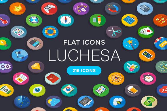 Luchesa 216 Flat Icons