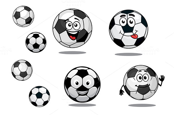 Cartoon Soccer Or Football Balls