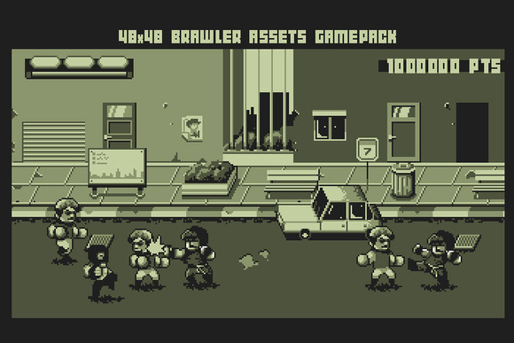 48X48 GAMEBOY BRAWLER GAME PACK