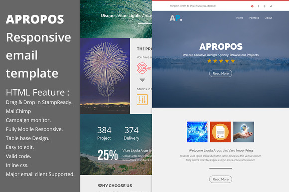 Apropos Responsive Email Template