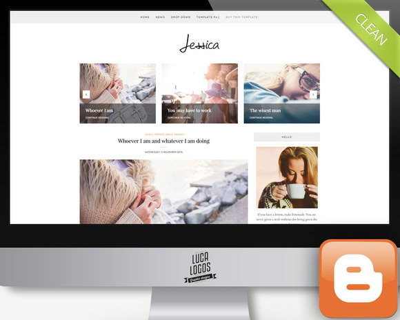 Responsive Blogger Template- Jessica