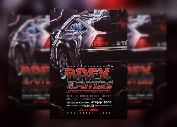Back To The Future Flyer Template