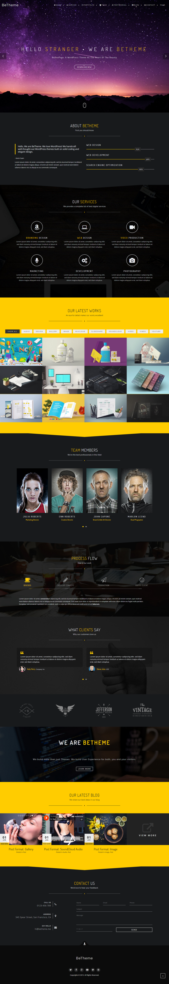 BeOnePage Creative WordPress Theme