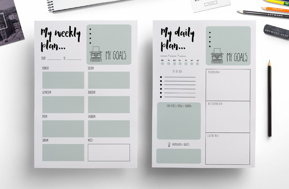 Weekly Calendar Indesign Template : Daily planner diary indesign templates designtube