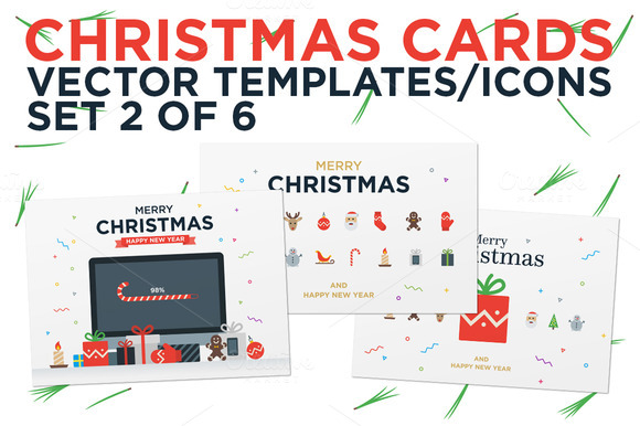 Christmas Cards Set 2 Of 6