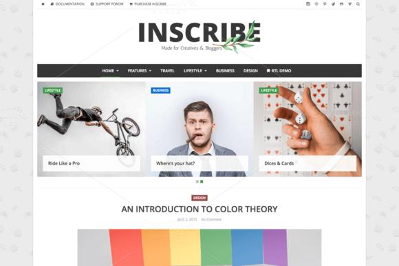 Inscribe WordPress Blog Theme