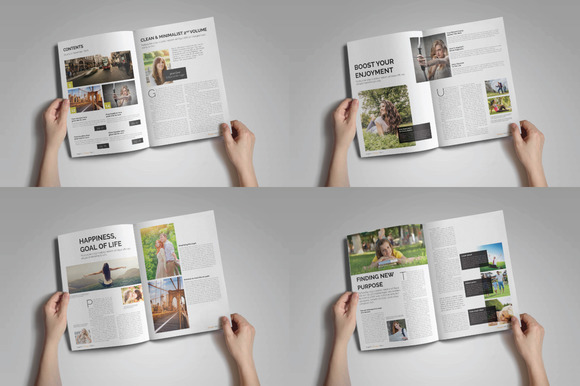 Reinigen Magazine Template II