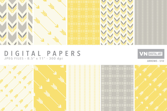 Digital Papers Arrows 510
