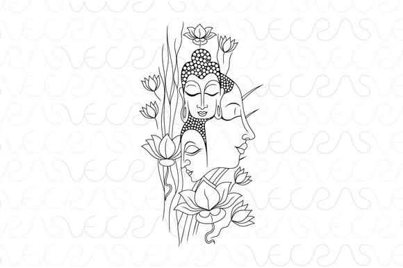 Buddha Meditation Vector Artwork