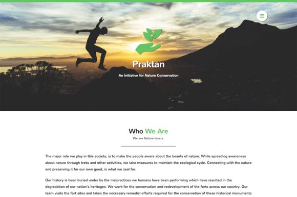 Praktan Charity Landing Page