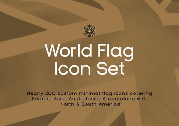 Infografica World Flag Icons