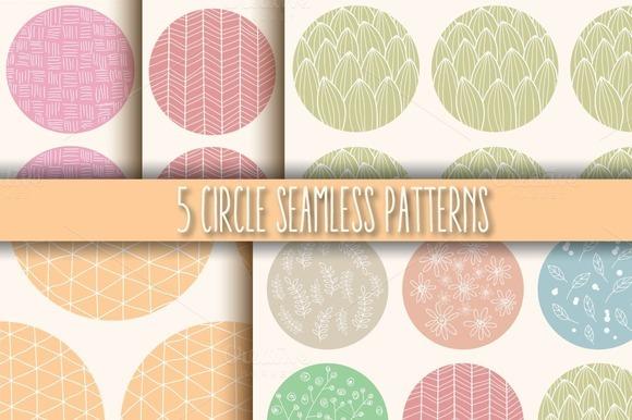 5 Circle Seamless Patterns