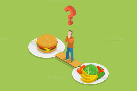 Aminasi Poster Junk Food Dan Healthy Food » Designtube - Creative