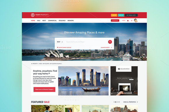 Property Realestate Listing Website