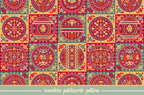 Seamless Patchwork Pattern Tile