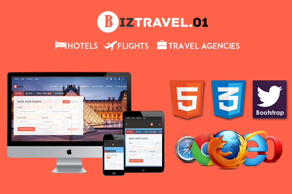 Biz Travel Premium HTML5 Template 01
