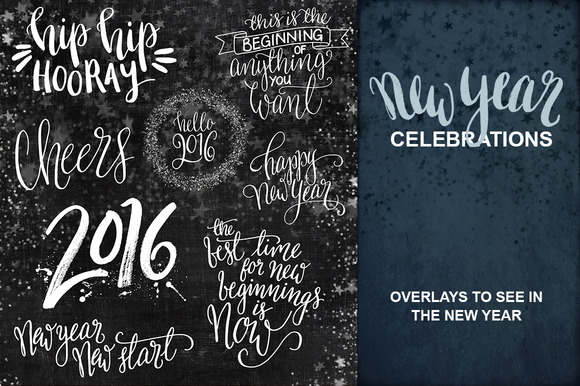 New Year Celebration Overlays