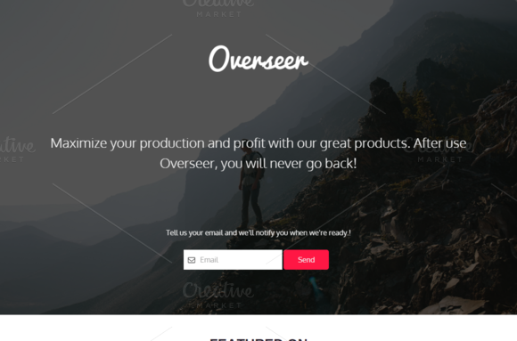 Overseer One Page HTML Template
