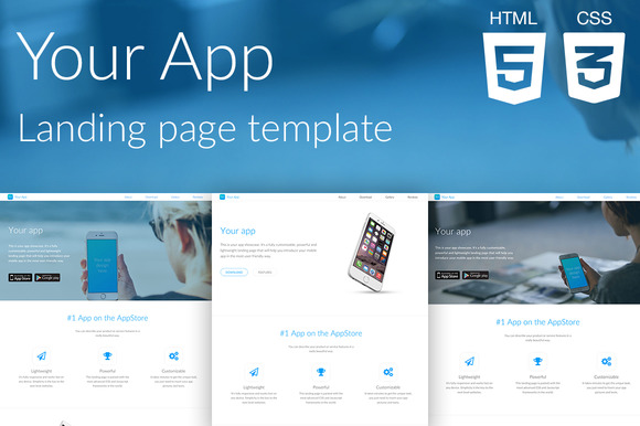Your App Website Template