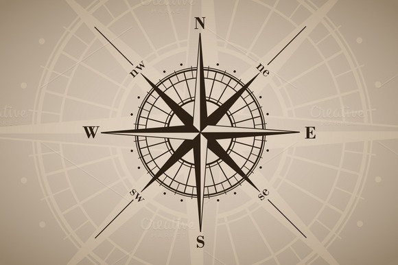Vector Compass Rose 6