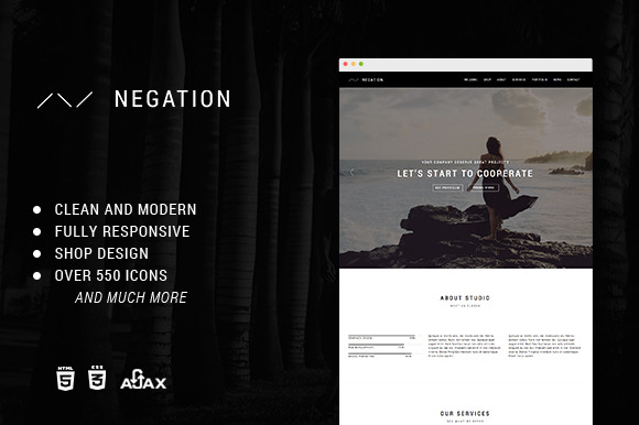 Negation Responsive HTML5 Template