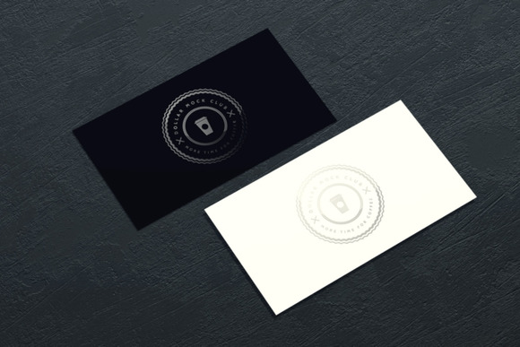 Spot UV Business Card Mockup