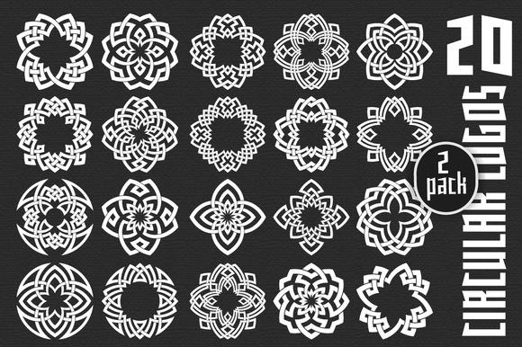 20 Circular Logo Templates Pack 2