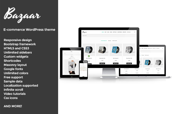 Bazaar E-Commerce WordPress Theme