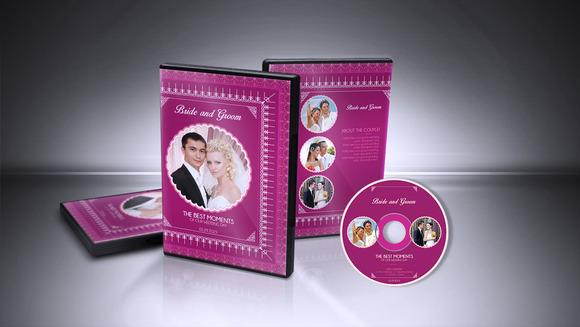 Wedding DVD Cover CD Label V001