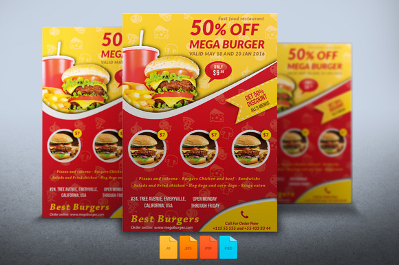 Flyer Mega Burger